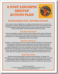 Post Linchpin MeetUp Action Plan