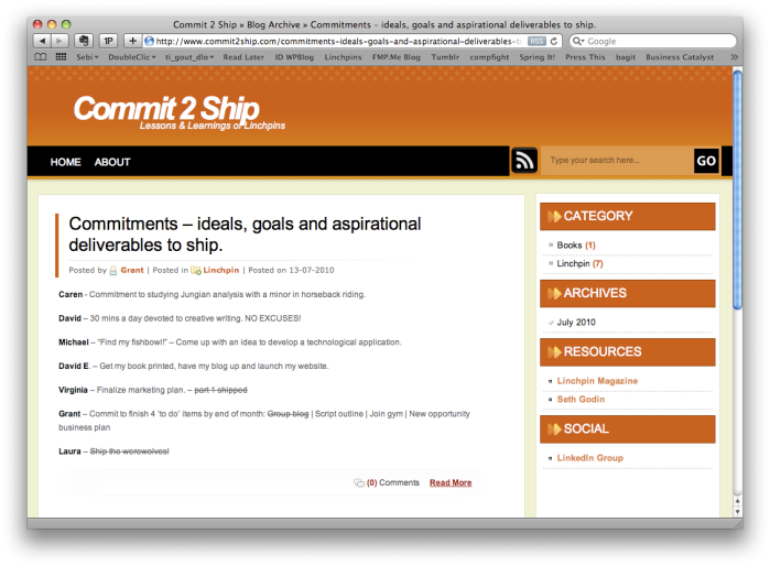 Commitments to ship