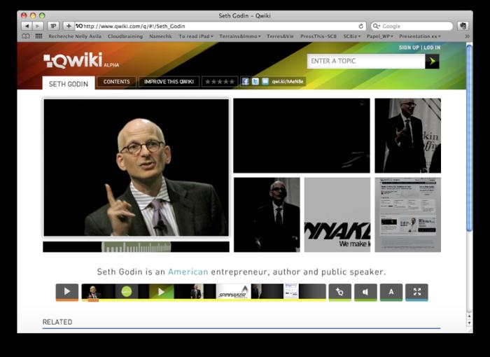 Qwiki's about Seth Godin